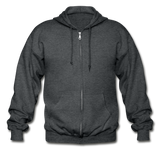 Customizable Gildan Heavy Blend Adult Zip Hoodie add your own photos, images, designs, quotes, texts and more - deep heather