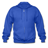 Customizable Gildan Heavy Blend Adult Zip Hoodie add your own photos, images, designs, quotes, texts and more - royal blue