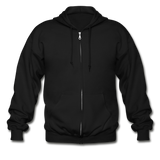 Customizable Gildan Heavy Blend Adult Zip Hoodie add your own photos, images, designs, quotes, texts and more - black