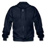 Customizable Gildan Heavy Blend Adult Zip Hoodie add your own photos, images, designs, quotes, texts and more - navy