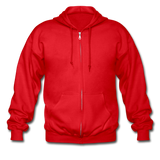 Customizable Gildan Heavy Blend Adult Zip Hoodie add your own photos, images, designs, quotes, texts and more - red