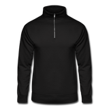 Customizable Unisex Hanes Quarter Zip Pullover add your own photos, images, designs, quotes, texts and more - black