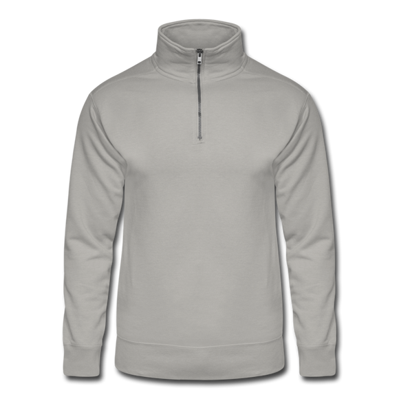 Customizable Unisex Hanes Quarter Zip Pullover add your own photos, images, designs, quotes, texts and more - light gray