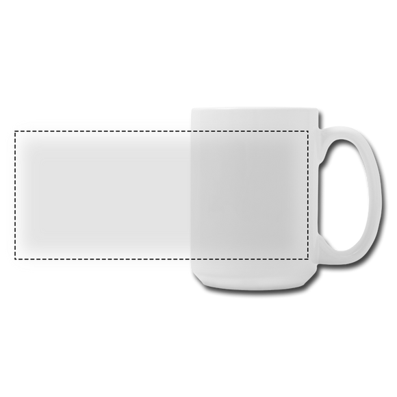 CUSTOMIZABLE Panoramic Coffee/Tea Mug 15 oz ADD YOUR OWN PHOTOS, IMAGES, DESIGNS, QUOTES, TEXTS AND MORE - white