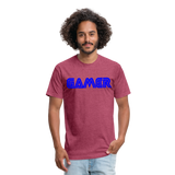 Gamer Word Text Art Fitted Cotton/Poly T-Shirt by Next Level - heather burgundy