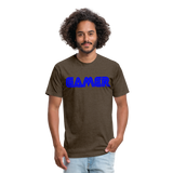 Gamer Word Text Art Fitted Cotton/Poly T-Shirt by Next Level - heather espresso