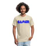 Gamer Word Text Art Fitted Cotton/Poly T-Shirt by Next Level - heather cream