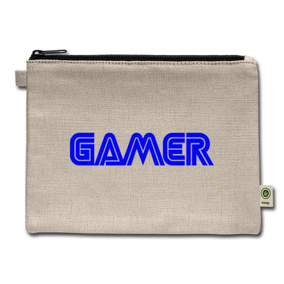 Gamer Word Text Art Carry All Pouch - natural