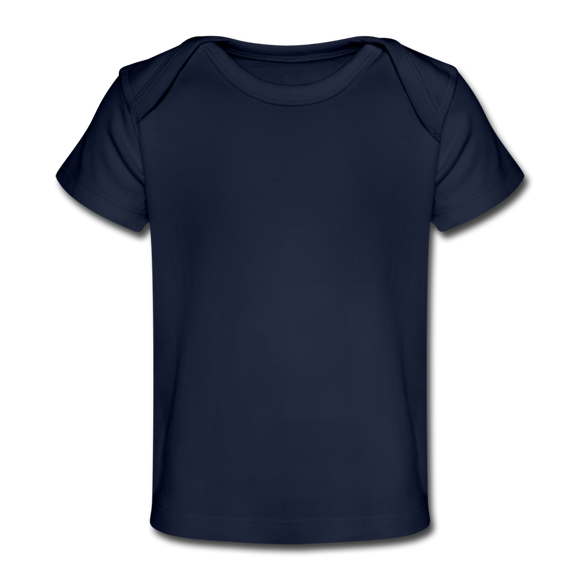 Customizable Organic Baby T-Shirt add your own photos, images, designs, quotes, texts and more - dark navy