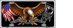 POW MIA ALL GAVE SOME SOME GAVE ALL NOVELTY METAL LICENSE PLATE
