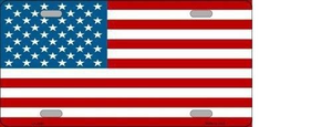AMERICAN FLAG METAL NOVELTY LICENSE PLATE