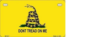DON'T TREAD ON ME METAL NOVELTY MOTORCYCLE LICENSE PLATE