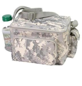 Digital Camo 6 can Cooler Lunch Bag With Side Pockets