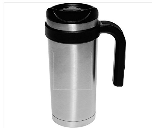 17 oz Double wall Stainless Steel Insulated Travel Mug Flip top spill proof lid
