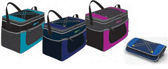 Coolpack's 6 Can, Collapsible, Insulated Lunch Bag Cooler with Shoulder Strap and Side/front Mesh Pockets