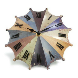 Rainbow Umbrella Desk Clock,Decorative desktop quartz clock Handlestand