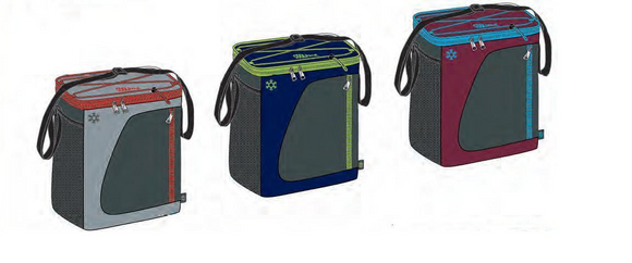 Coolpack 12 can deluxe cooler and lunch bag with shoulder strap