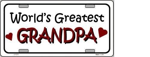WORLD'S GREATEST GRANDPA METAL NOVELTY LICENSE PLATE