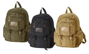 "16.5"" trendy backpacks, daypacks with Cotton canvas material for school, travel"