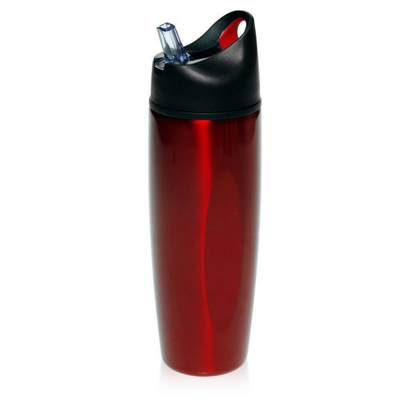 Extra Large 28.5 Oz. Stainless-steel Hydration Sports Bottle, with Flip Top Straw & Spill Preventing, Screw on Lid. BPA Free!