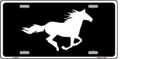 RUNNING HORSE NOVELTY METAL LICENSE PLATE