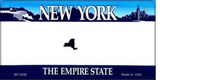 NEW YORK NOVELTY STATE BICYCLE LICENSE PLATE