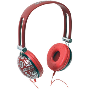 Marc Ecko Unlimited Impact Over Ear Headphones w/Mic (RED) Feel the beat