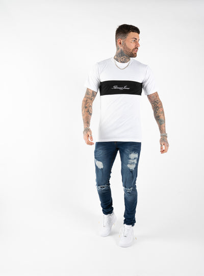 T-SHIRT - WHITE/BLACK