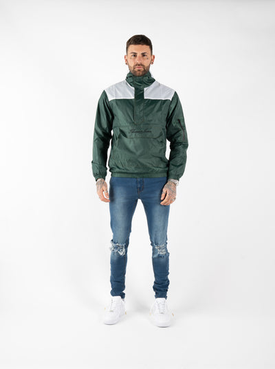 RAIN JACKET - GREEN/WHITE