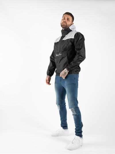 RAIN JACKET - BLACK/WHITE