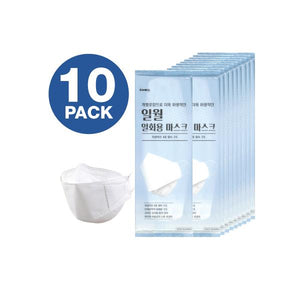 Face Mask 4-Layered Filtration, Made In KOREA 10 Pack