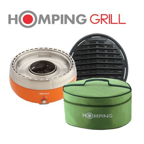 Homping Grill - Revolutionary Charcoal Grill - Perfect for outdoor tabletop cooking!