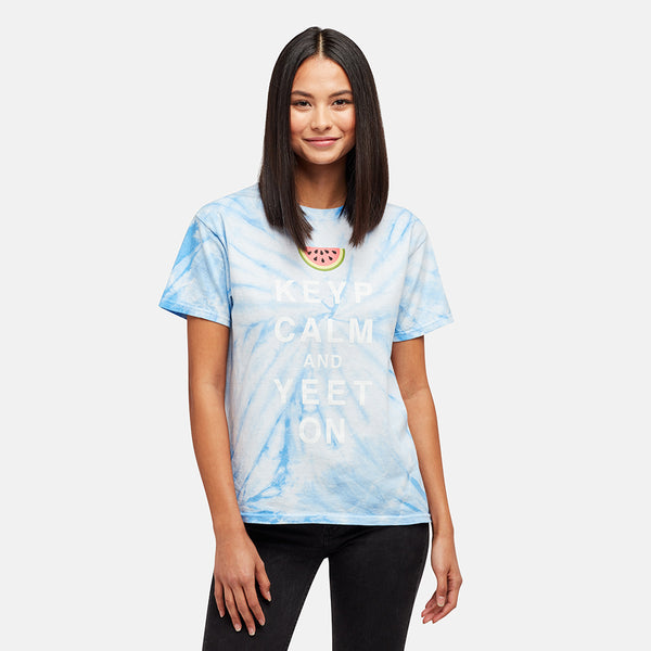 GIRLS KEYP CALM WATERMELON TIE DYE TEE