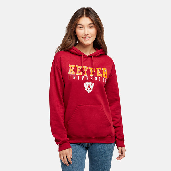 GIRLS KEYPER UNIVERSITY RED PULLOVER HOODIE
