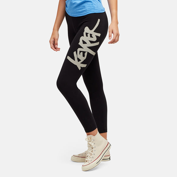 GIRLS KEYPER BLACK LEGGINGS