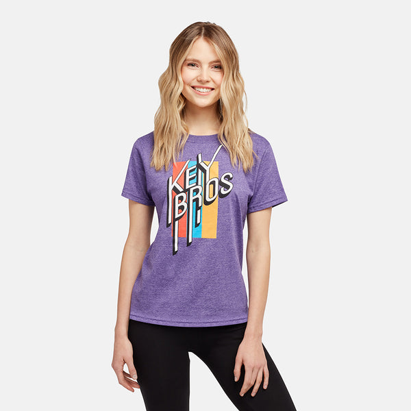 GIRLS KEY BROS HEATHER PURPLE TEE
