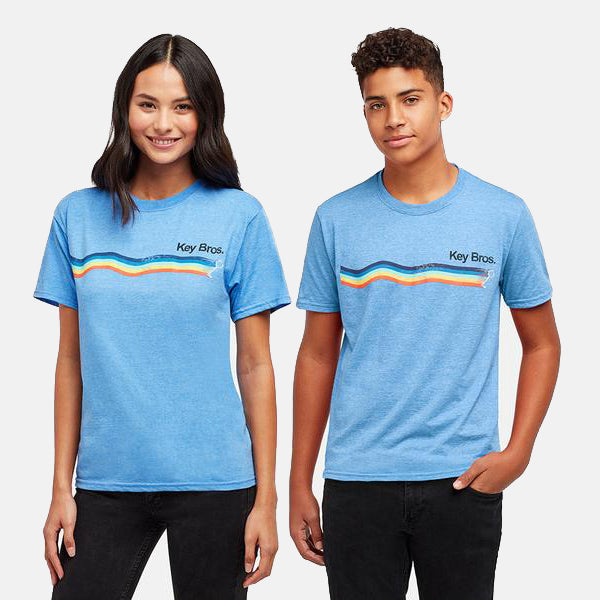 SURF KEY HEATHER ROYAL TEE