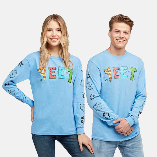 YEET PIZZA BLUE LONGSLEEVE