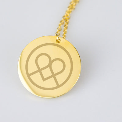 Ubumuntu Gold-plated Etched Line Pendant