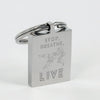 Stop Breathe Live Steel Keychain