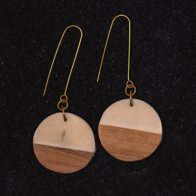 Ukwezi Two-tone Earrings