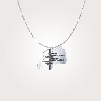 Ubumuntu Translated Silver Pendant