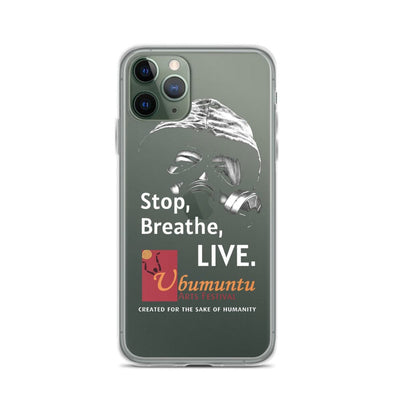 Stop Breathe Live iPhone Case