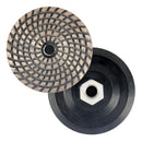 "Raizi 4"" metal bond sintered diamond grinding wheel/disc with adapter"