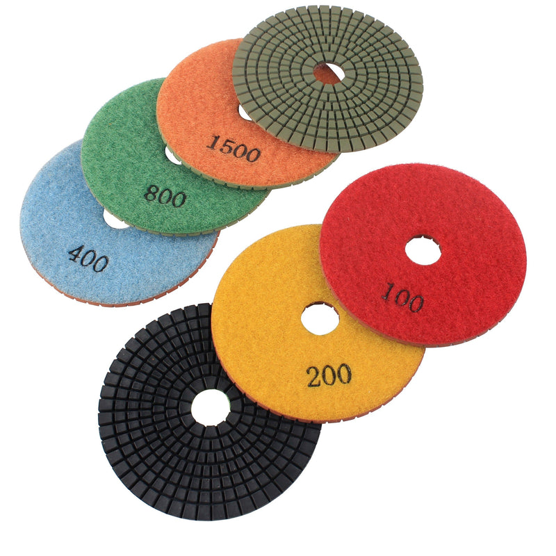 7-Step-Flexible-Granite-Wet-Polishing-Pads