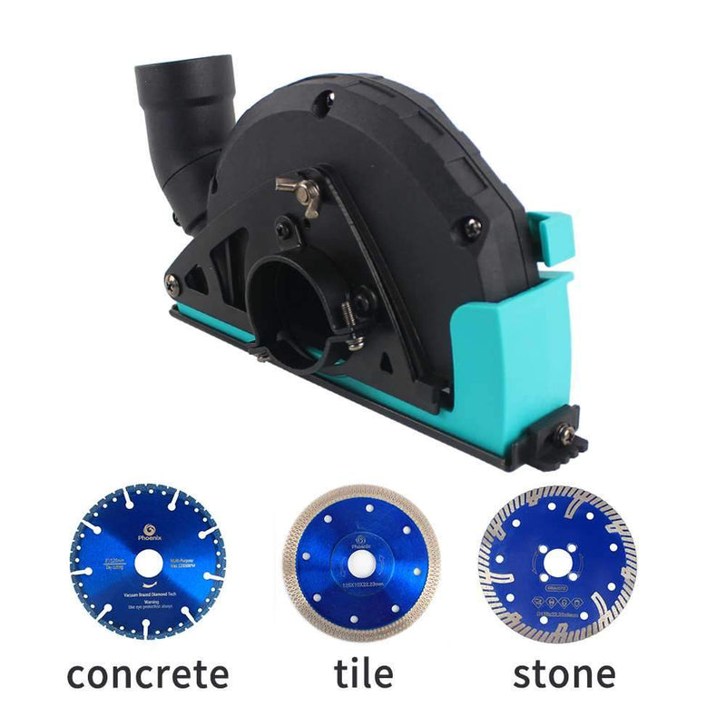 Raizi Angle Grinder Cutting Dust Shroud Cover With 5 Inch Diamond Saw Blade