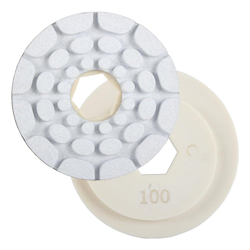 "Raizi 5"" Snail Lock Granite Edge Diamond Polishing Pads For Automatic Machine"