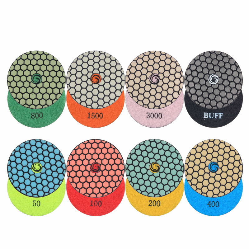 Raizi 4,5,7 Inch Dry Diamond Granite Polishing Pads Dry Polishing Pads Raizi Tool