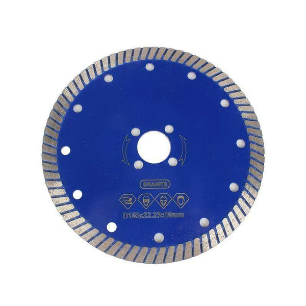"Raizi 5"", 6"" Diamond Granite Saw Blade With Continuous Rim Turbo Segment Granite Saw Blade Raizi Tool"