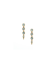 Medium Spike Earrings in Swiss Blue Topaz